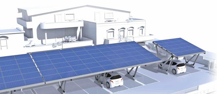 pensilina  fotovoltaico