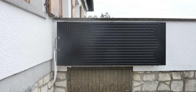 solare termodinamico su parete esterna